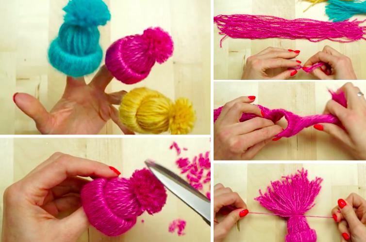 Deco de noel avec laine