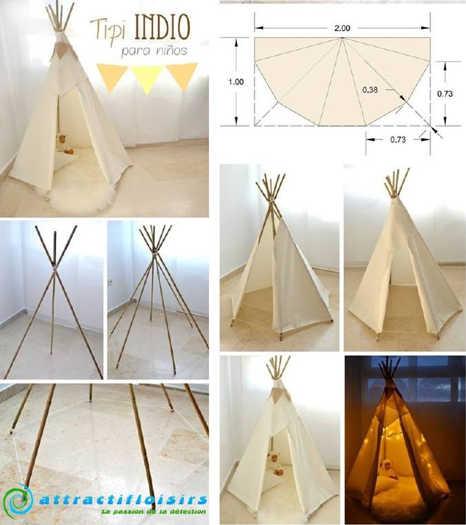 comment fabriquer un tipi. Black Bedroom Furniture Sets. Home Design Ideas