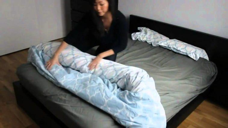 comment changer la housse de couette en quelques secondes. Black Bedroom Furniture Sets. Home Design Ideas