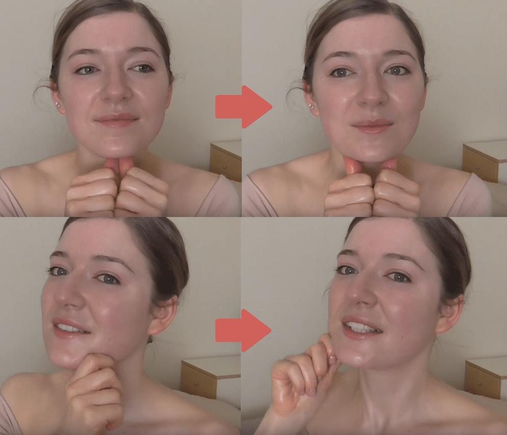 massage anti double menton