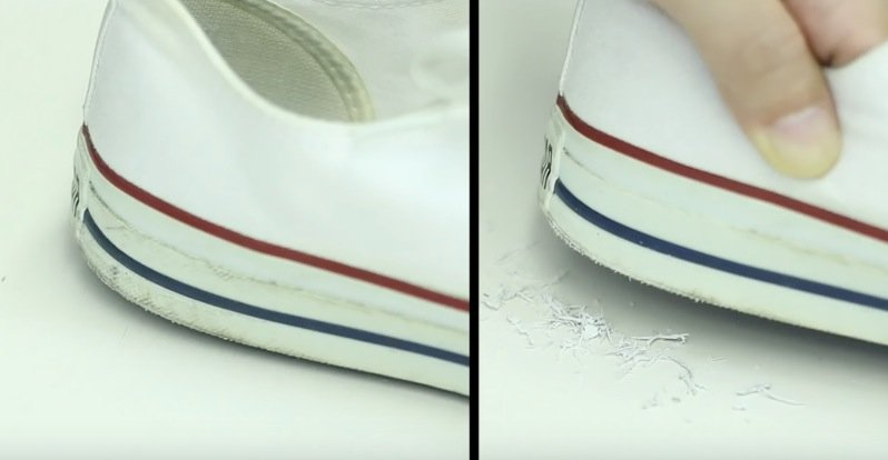 semelles chaussures blanches