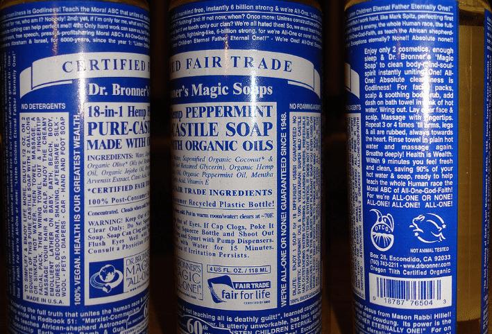 savon de castille savon magique du dr. Bronner's