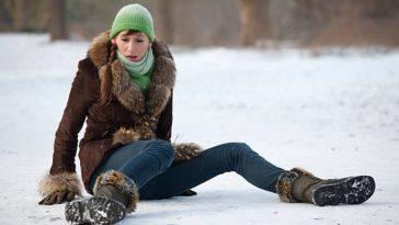 chute tomber hiver verglas neige