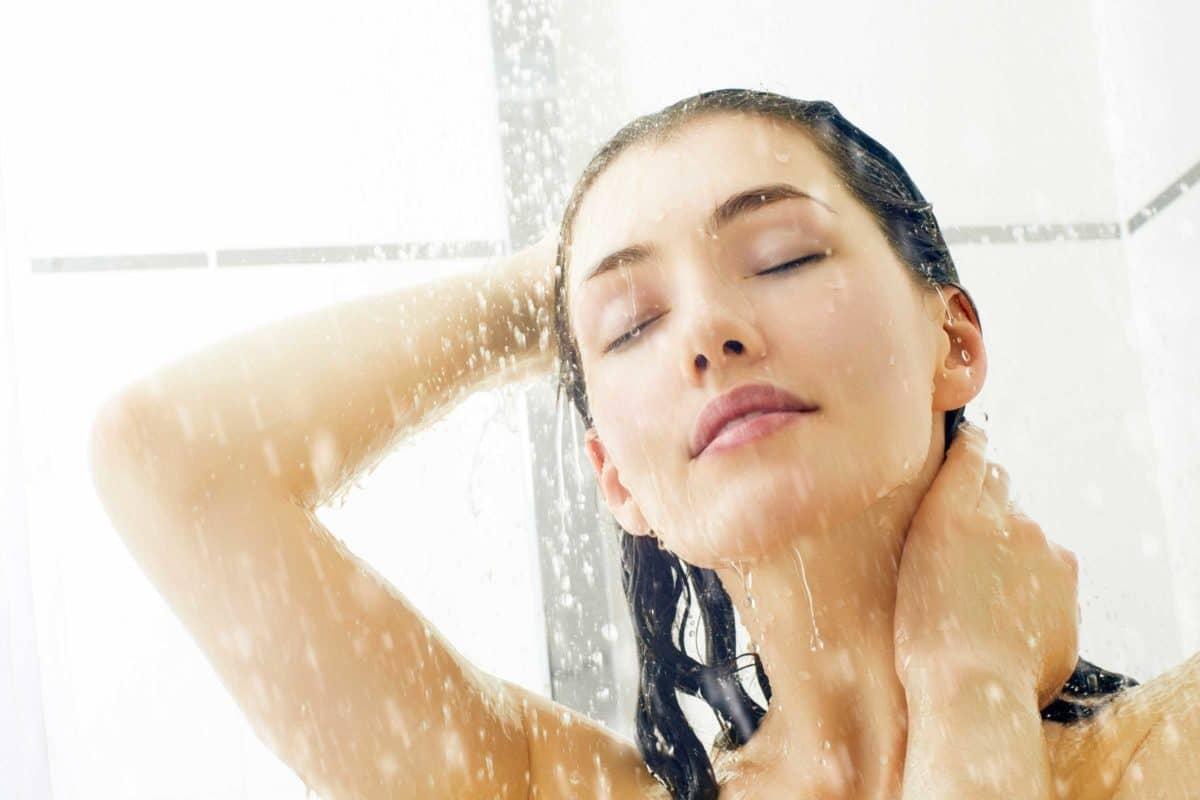 douche shampoing