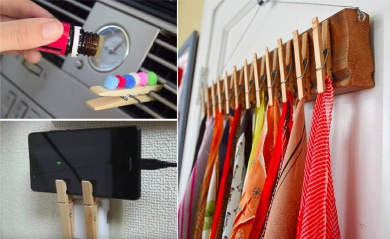 21 astuces ing nieuses avec des pinces linge page 2 sur 3 astuces de grand m re. Black Bedroom Furniture Sets. Home Design Ideas