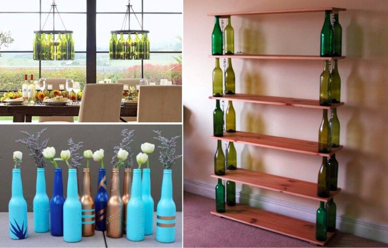 11 id es g niales pour r utiliser vos bouteilles en verre vides. Black Bedroom Furniture Sets. Home Design Ideas