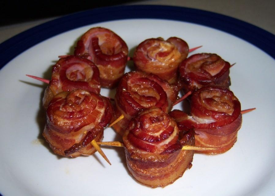 viande bacon roulé