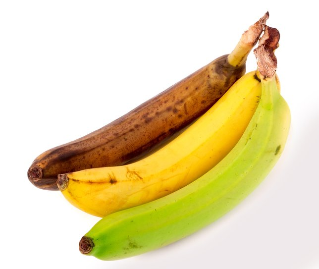banane verte jaune et trop mûre