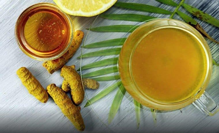 curcuma miel thé au curcuma