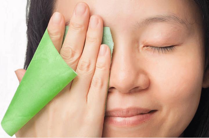 peau grasse sébum papier matifiant