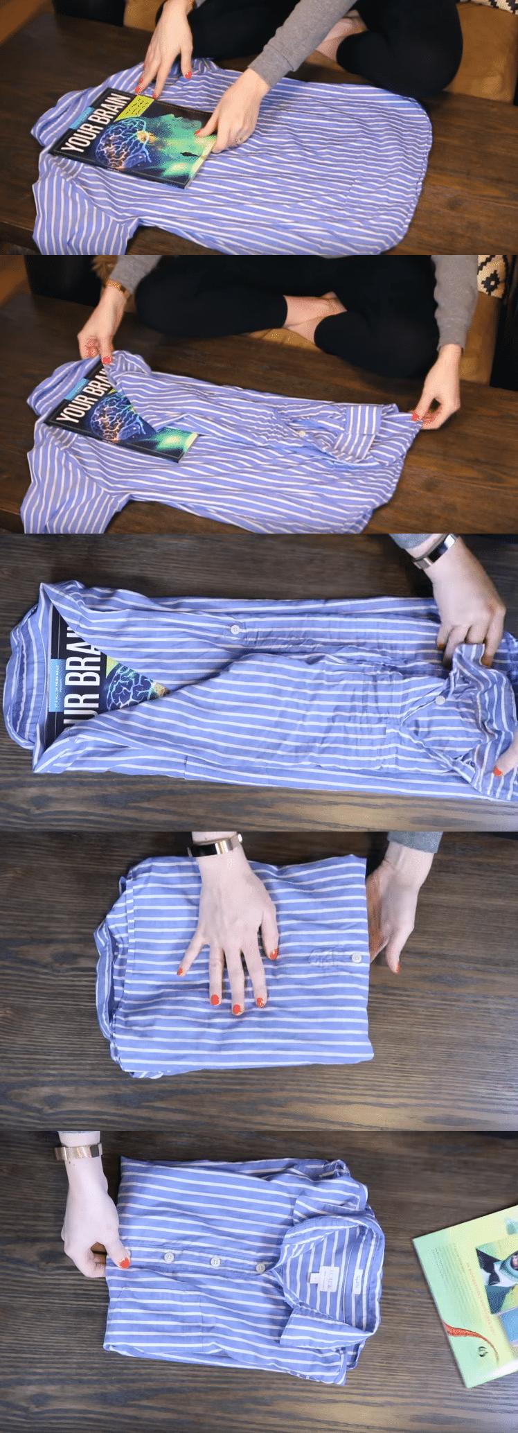 9 astuces illustr es pour tout plier merveille et gagner - Plier un t shirt ...