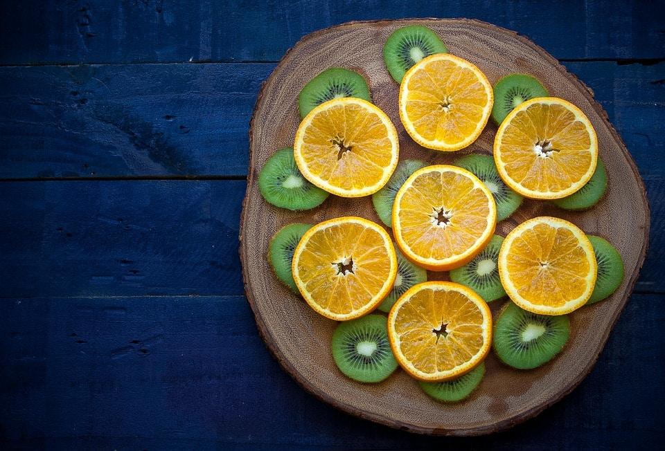 orange kiwi vitamine c