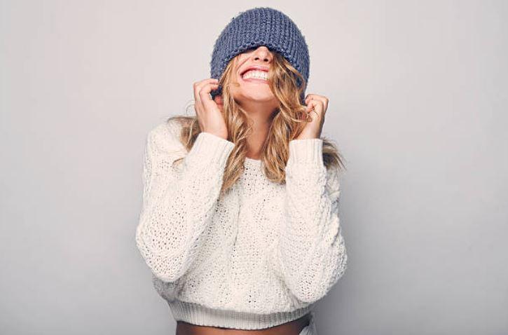 pull en laine bonnet gratte