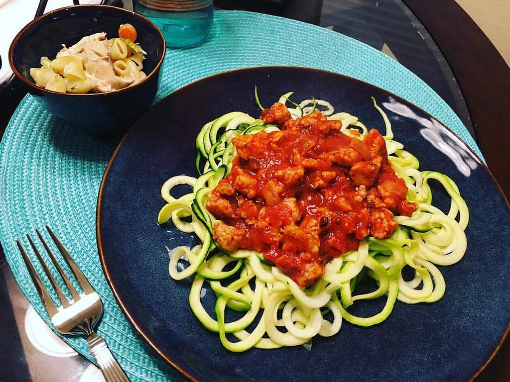 Spaghettis nouilles de courgette