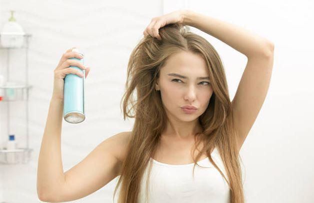 coiffage cheveux laque spray shampoing sec