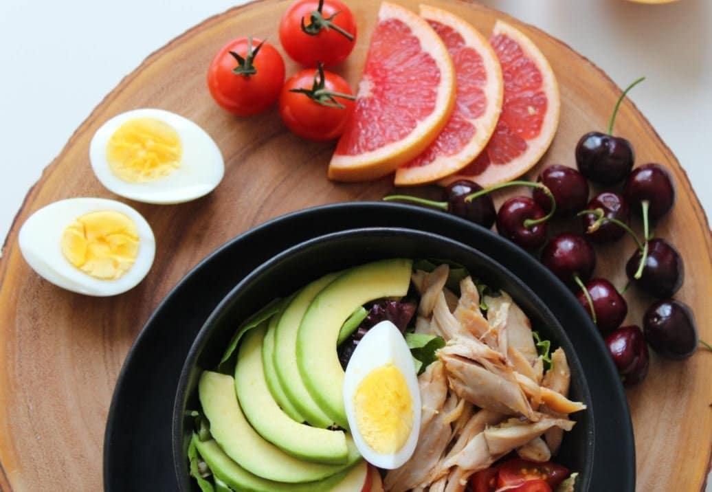 repas sain léger entrée salade diététique
