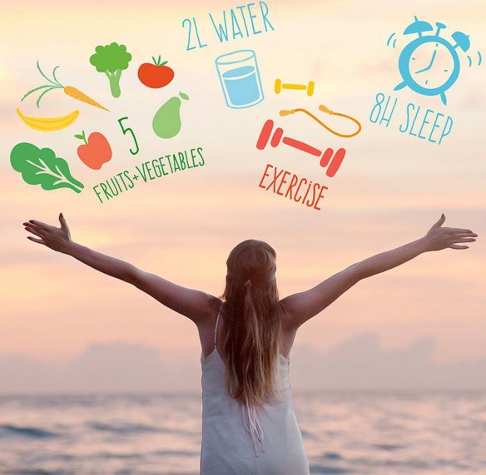 bonnes habitudes mode de vie sain sommeil exercice hydratation