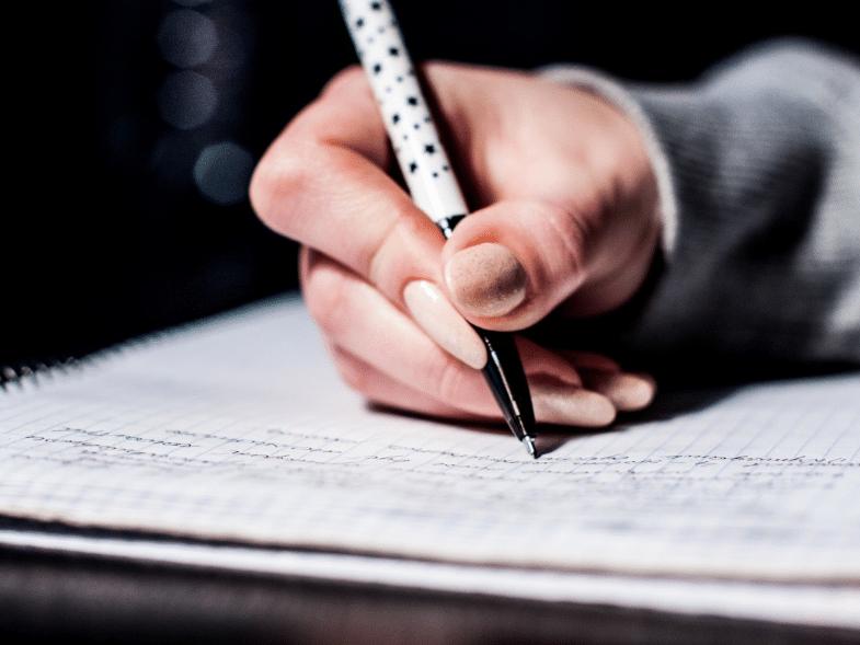écriture écrire liste