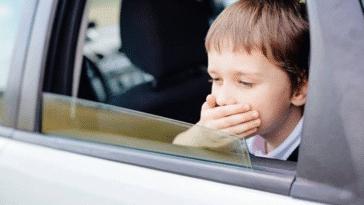 mal des transports cinétose nausées enfant vomissement