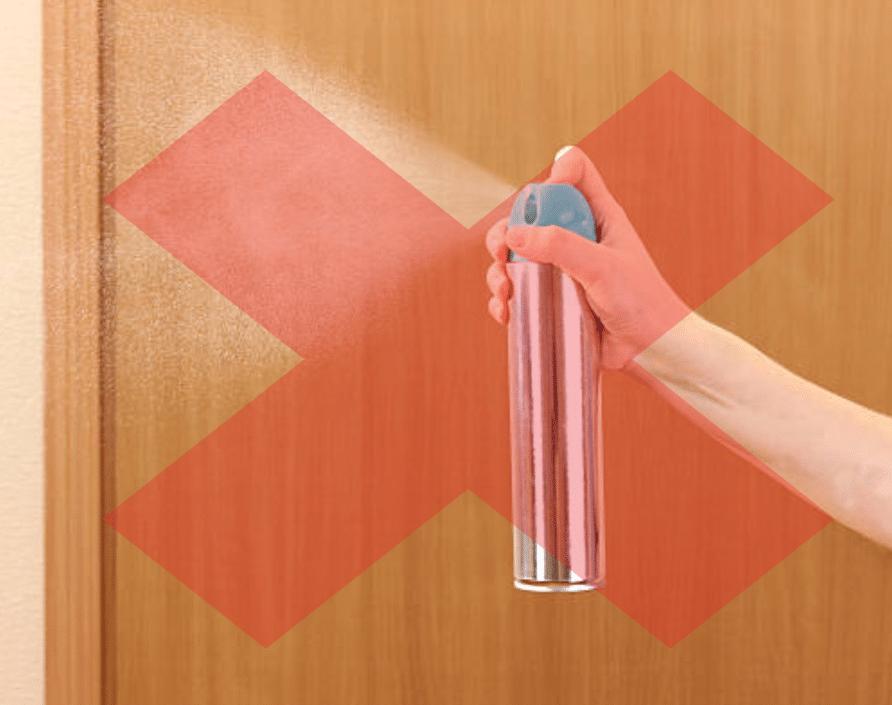 spray parfum pulvérisateur désodorisant d'intérieur pollution