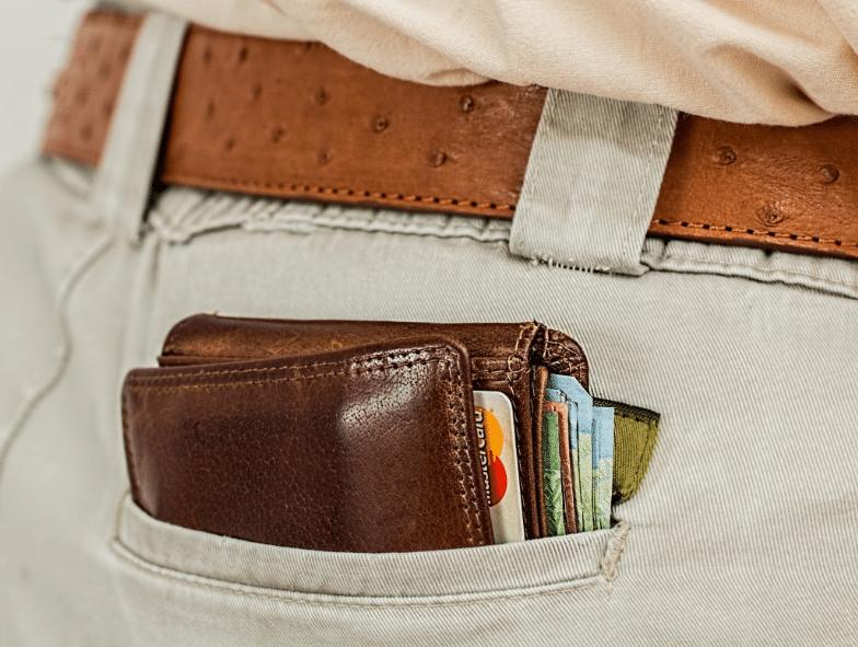 portefeuille argent poche