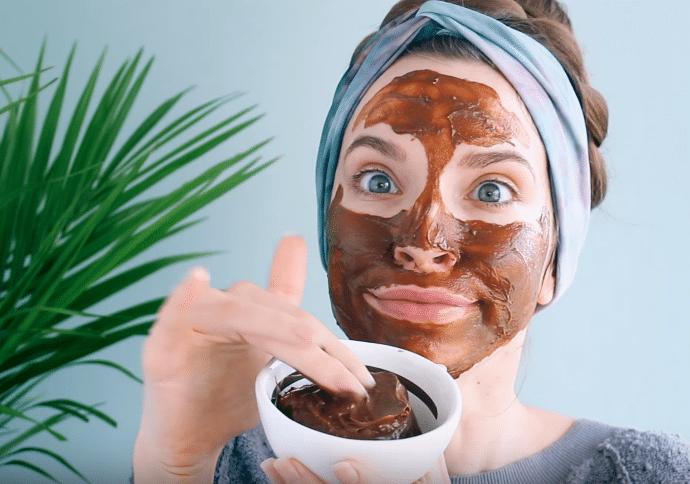 masque beauté visage cacao chocolat
