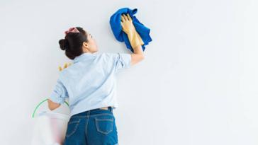 mur lessiver nettoyer nettoyage