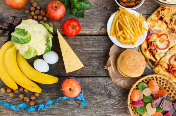 aliments sains fruits légumes gras malsains matières grasses santé