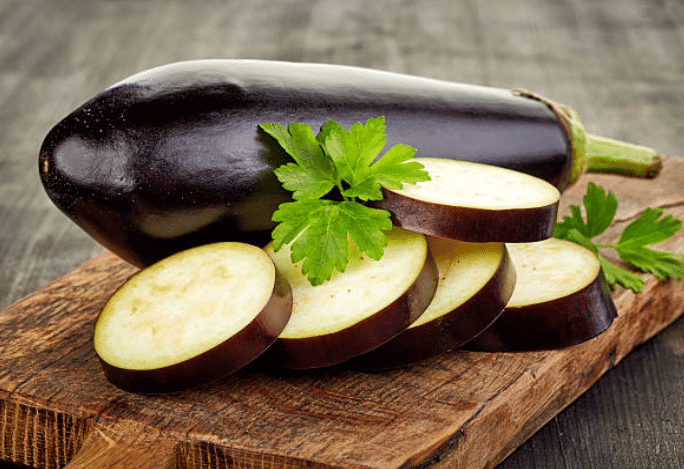 aubergines tranches