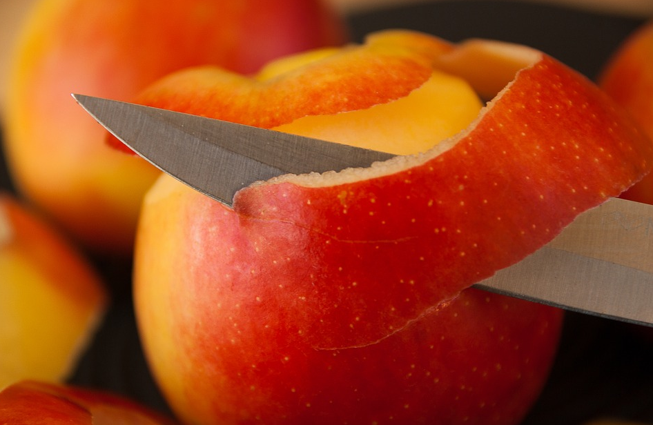 épluchures pelures peau pomme