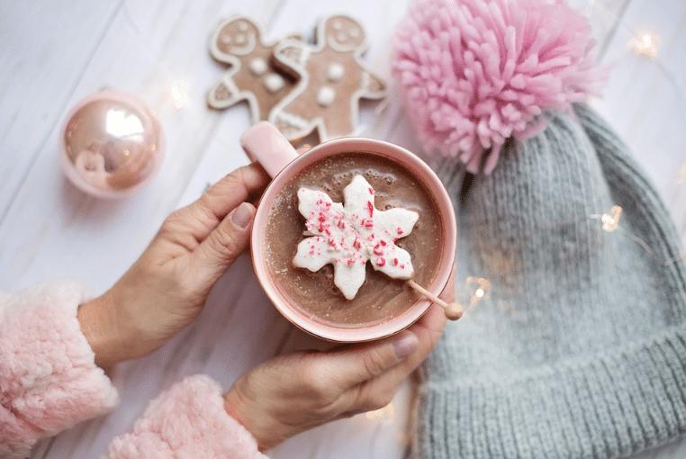 bonnet chocolat chaud hiver noël