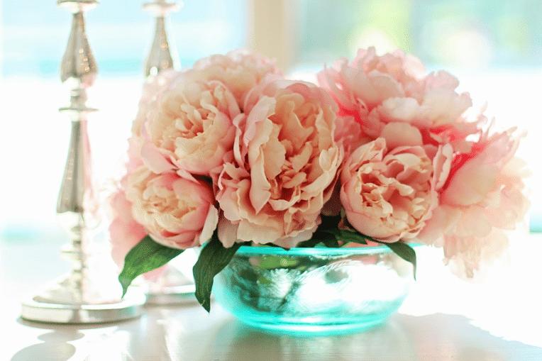 fleurs pivoines bouquet