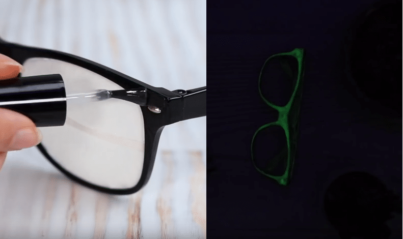 vernis fluorescent pour voir ses lunettes dans le noir