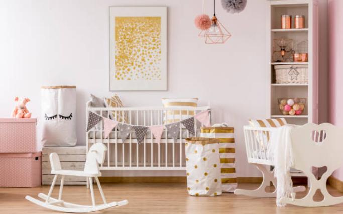 chambre de bébé rose