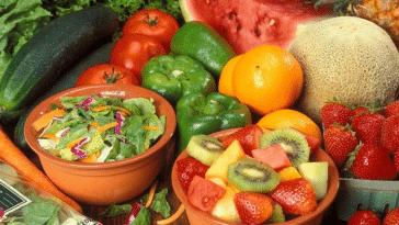 fruits et légumes entamés