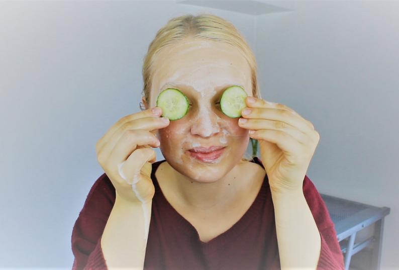 masque contre l'acné au concombre