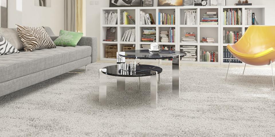 salon meubles à pieds tables miroir