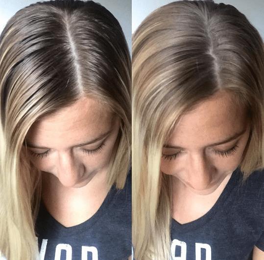 shampoing sec pour espacer les shampoings avant après