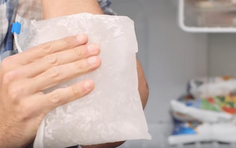 chaud ou froid douleur ice pack sur inflammation aigue ou enflure