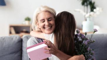 grand mère cadeau bouquet