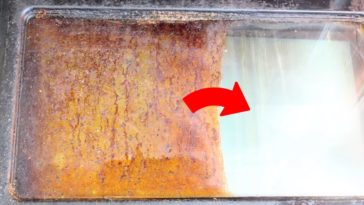 nettoyer la vitre du four avant après