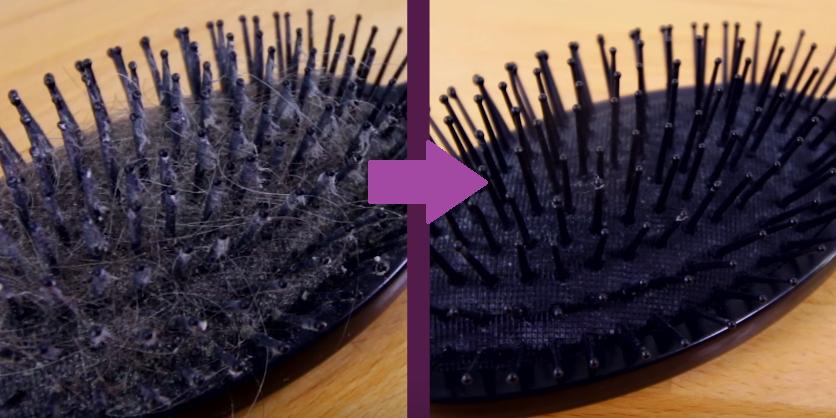nettoyer sa brosse avant après