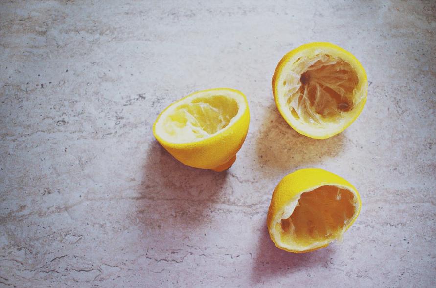 peau de citron pelure sans la chair