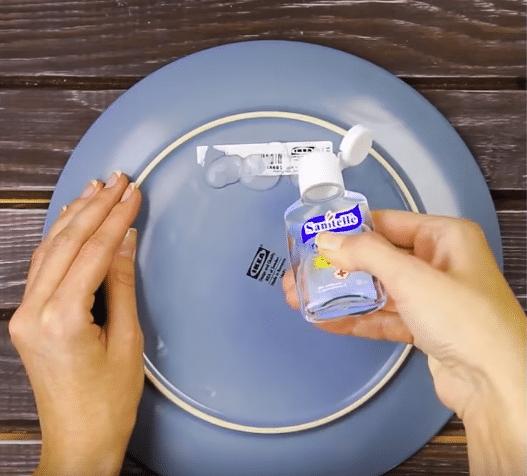 étiquette gel antibactérien