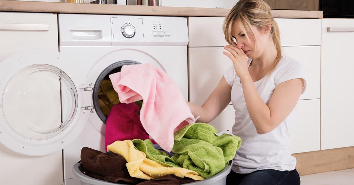 machine à laver lave linge odeur