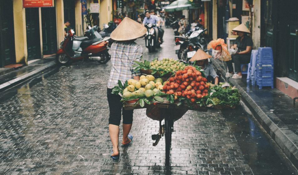 marché nourriture de rue voyage