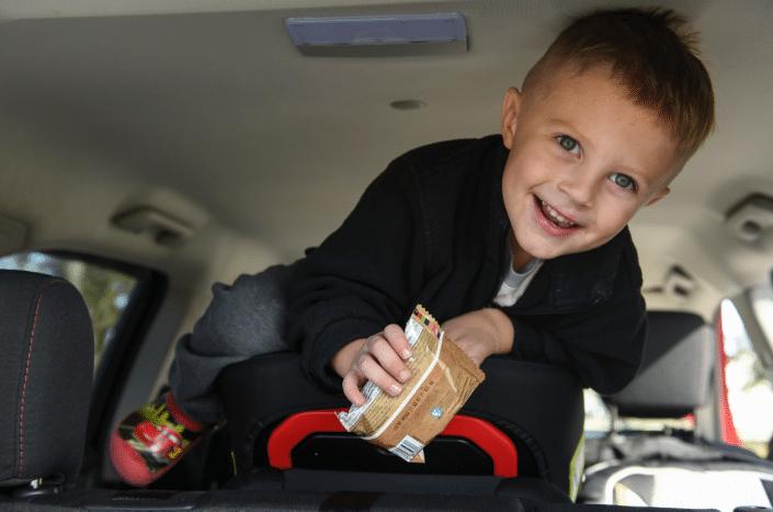 enfant voiture longs trajets difficiles pour les enfant goûter