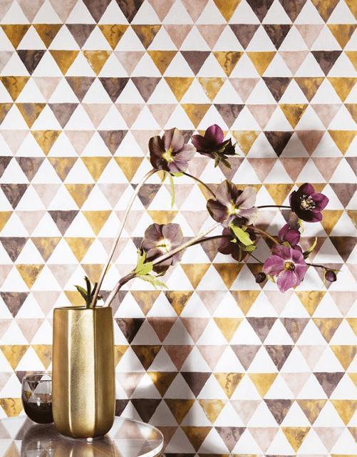 décoration papier peint géométrique