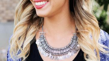 collier argent bijou fantaisie femme sourire