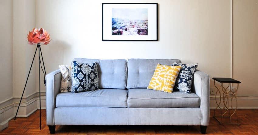 canapé en tissu